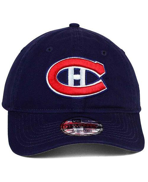 factory price 04b2b f032c New Era Montreal Canadiens Relaxed 9TWENTY Strapback Cap - Sports ...