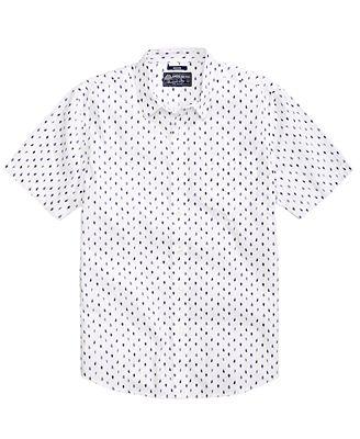 American Rag Men's Mini Leaves Shirt, Created for Macy's