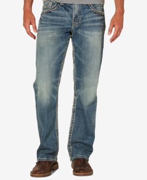 Silver Jeans Co. Men's Gordie Loose Fit Straight Stretch Jeans 4657243