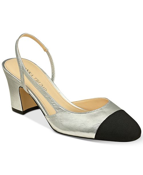 196caf316 Ivanka Trump Liah Slingback Block-Heel Pumps & Reviews - Pumps ...