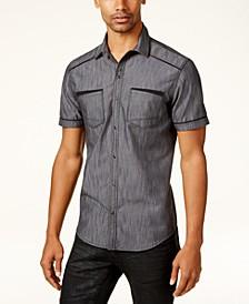 INC Men's Shiny Chambray Shirt, Created for Macy's