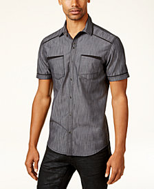 I.N.C. Men's Shiny Chambray Shirt, Created for Macy's