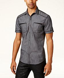I.N.C. Men's Shiny Chambray Shirt, Created for Macy's