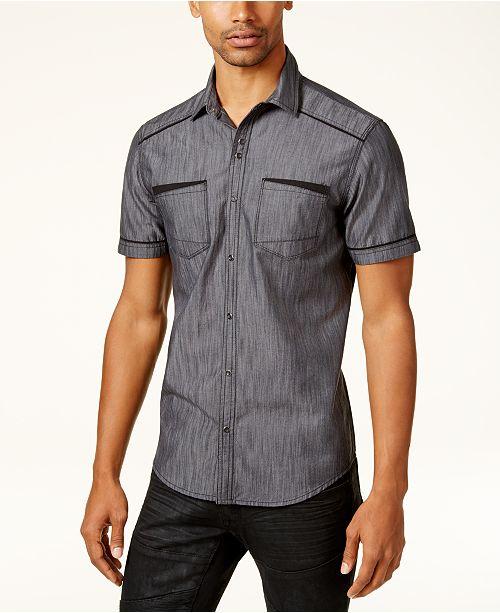 INC International Concepts INC Men's Shiny Chambray Shirt, Created for Macy's