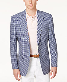 Lauren Ralph Lauren Men's Classic-Fit Ultraflex Blue & White Gingham Sport Coat