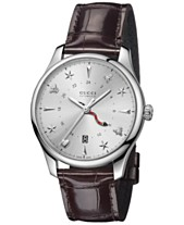 6078e9d1420 Gucci Men s Swiss Automatic G-Timeless Dark Brown Alligator Leather Strap  Watch 40mm