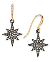 INC International Concepts Two-Tone Pavé Star Drop Earrings, Created for Macy's