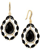 INC International Concepts Gold-Tone Stone & Pavé Teardrop Drop Earrings, Created for Macy's