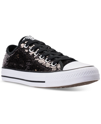 Converse Women's Chuck Taylor Ox Sequin Casual Sneakers from Finish Line