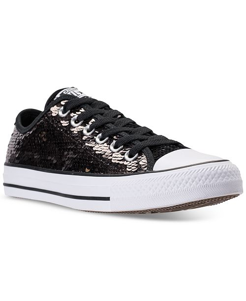 3046f1cc771040 ... Converse Women s Chuck Taylor Ox Sequin Casual Sneakers from Finish ...