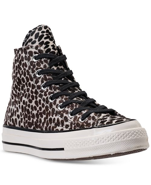 fb040b809fad ... Converse Women s Chuck Taylor All Star 70 High-Top Cheetah Pony Hair  Casual Sneakers from ...