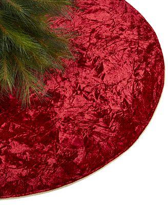 Holiday Lane Red Velvet Tree Skirt Created For Macys