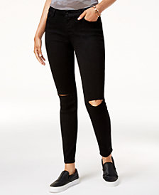 Black Daisy Juniors' Billie Ripped Skinny Jeans