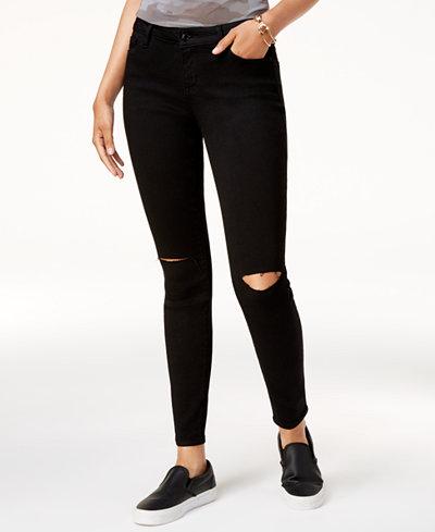 Black Daisy Juniors' Billie Ripped Skinny Jeans - Black Daisy Juniors' Billie Ripped Skinny Jeans - Juniors - Macy's