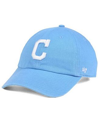 '47 Brand Women's Cleveland Indians Powder Blue/White CLEAN UP Cap
