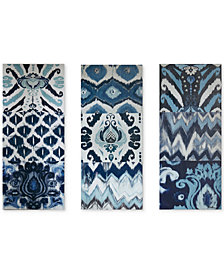 Madison Park Flourish Ikat 3-Pc. Gel-Coated Canvas Print Set
