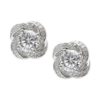 beace4620 Giani Bernini Cubic Zirconia Love Knot Stud Earrings in Sterling ...