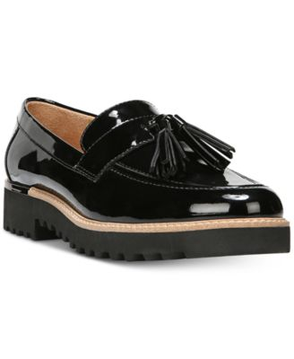 Women/'s Black Patent Flats With Tassel Detail Size 5