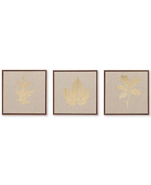 JLA Home Madison Park Golden Harvest 3-Pc. Framed Canvas Print Set