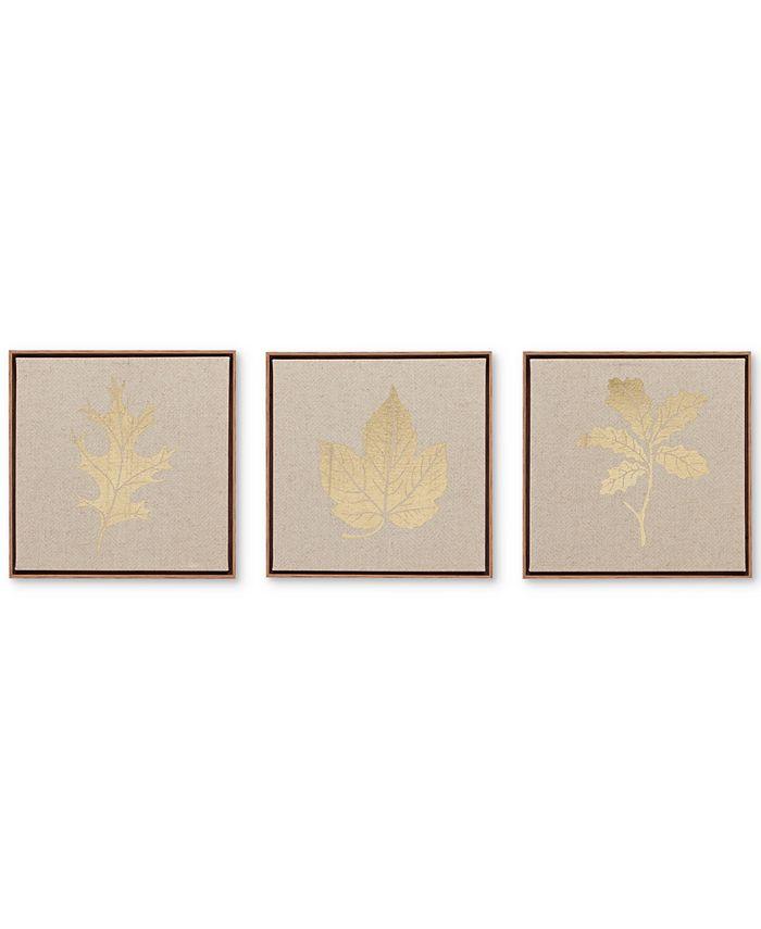 JLA Home - Golden Harvest 3-Pc. Framed Canvas Print Set