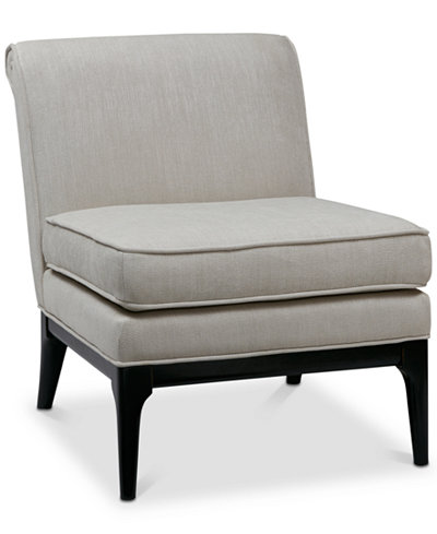 Camelle Armless Accent Chair, Quick Ship