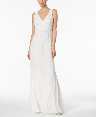 Adrianna Papell Scoop Back Mermaid Gown Dresses Women Macy S