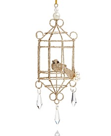 Majesty Gold Bird Cage Ornament Created for Macy's