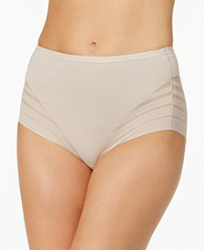 Women's  Light Control Sheer-Panel Brief