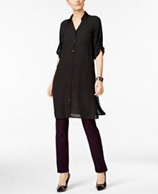 Alfani Tunic Shirt & Jacquard Pants, Created for Macy's
