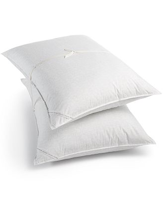CLOSEOUT! Calvin Klein Outline Logo Down-Alternative 2 Pack Standard Pillows
