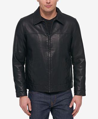 Tommy Hilfiger Men S Faux Leather Bomber Jacket Coats Jackets