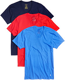Polo Ralph Lauren Men's 3-Pk. Cotton V-Neck T-Shirts