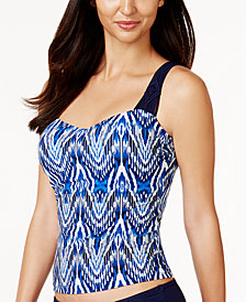 Profile by Gottex Java Bra-Sized Underwire Macramé Tankini Top