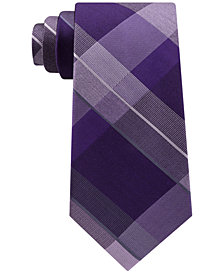 Kenneth Cole Reaction Men's Track Plaid Silk Tie