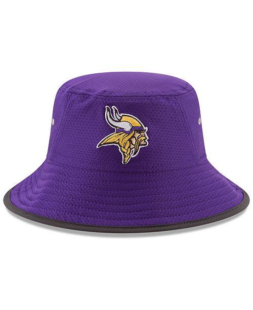 New Era Minnesota Vikings Training Bucket Hat - Sports Fan Shop By ... 8d71e26e227