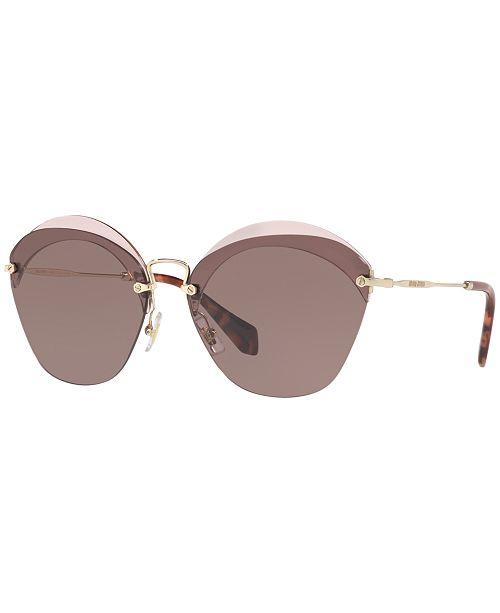 2affd36bc MIU MIU Sunglasses, MU 53SS & Reviews - Sunglasses by Sunglass Hut ...