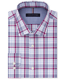 Tommy Hilfiger Men's Slim-Fit Soft Touch Non-Iron Performance Check Dress Shirt