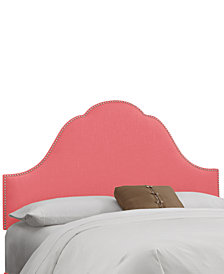 Jenny Nail Button Headboard - King, Quick Ship