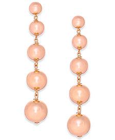 kate spade new york 14k Gold Plated Graduated Ball Linear Drop Earrings