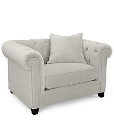 "Martha Stewart Collection Saybridge 52"" Fabric Armchair, Created for Macy's"