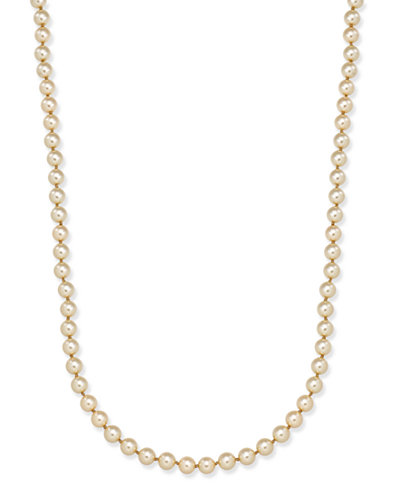 Charter Club Champagne Imitation Pearl Long Necklace, Created for Macy's