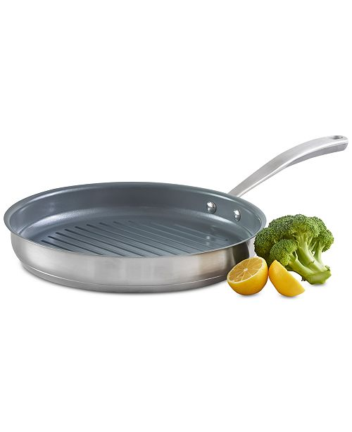 "Martha Stewart Collection 11"" Grill Pan, Created for Macy's"