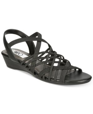 Impo Rise Stretch Wedge Sandals Women
