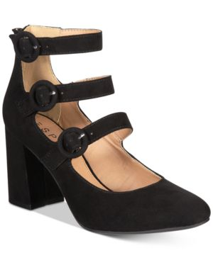Esprit Lucy Block-Heel Detailed Dress Pumps