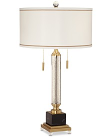 Pacific Coast Candlestick Mercury Glass 2-Light Table Lamp