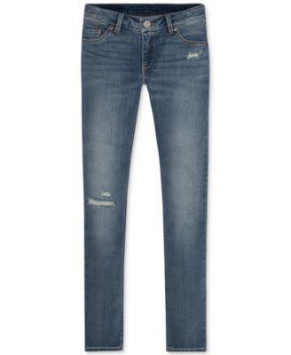 Levi's skinny jeans girl