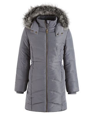 Calvin Klein Everest Puffer Jacket with Faux-Fur Trim, Toddler ...