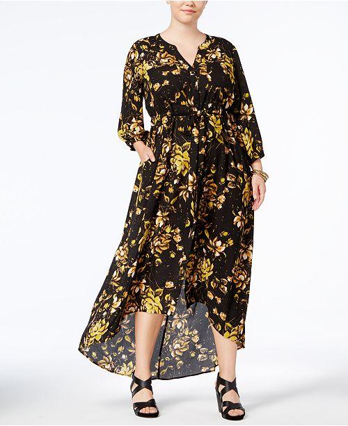 Melissa McCarthy Seven7 Trendy Plus Size High-Low Maxi Dress ...