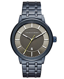 A|X Armani Exchange Men's Maddox Blue Stainless Steel Bracelet Watch 46mm