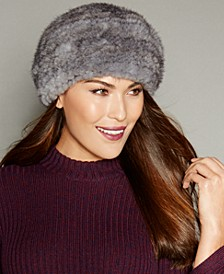 Knitted Mink Fur Hat